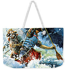 Weekender Tote Bag featuring the painting White Water by Hanne Lore Koehler