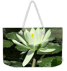 Weekender Tote Bag featuring the photograph White Water Lily 1 by Randall Weidner