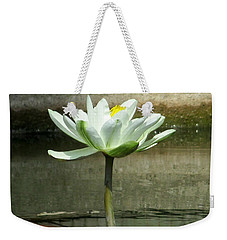 Weekender Tote Bag featuring the photograph White Water Lily 2 by Randall Weidner