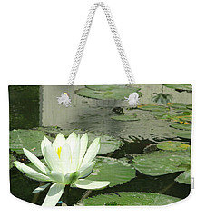 Weekender Tote Bag featuring the photograph White Water Lily 3 by Randall Weidner