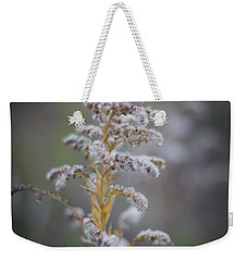 White Weeds In Winter, Oak Grove Park, Grapevine, Texas Weekender Tote Bag