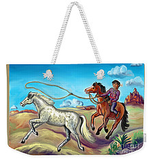 White Wind And Knotty Whiskers - Story Illustration - Age 12 Weekender Tote Bag