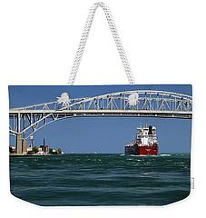 Whitefish Bay And Blue Water Bridge Weekender Tote Bag