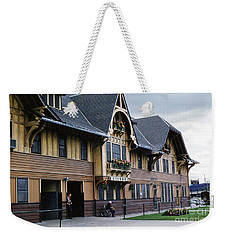 Whitefish Train Depot Montana Weekender Tote Bag by Wernher Krutein