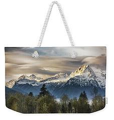 Whitehorse Sunrise, Flowing Clouds Weekender Tote Bag