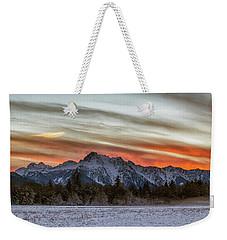 Whitehorse Sunset Panorama Weekender Tote Bag