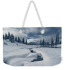 Weekender Tote Bag featuring the photograph Whiteout by Gene Garnace