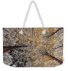 Weekender Tote Bag featuring the photograph Whiteout by Tony Beck