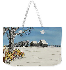 Whitetail  Lookout Weekender Tote Bag by Jeffrey Koss