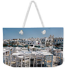 Whitewashed Naoussa Weekender Tote Bag