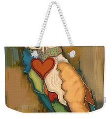 Weekender Tote Bag featuring the painting Who Christmas by Carrie Joy Byrnes