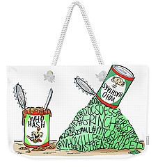 Who Hashtags Weekender Tote Bag