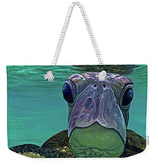 Weekender Tote Bag featuring the painting Who Me? by Darice Machel McGuire