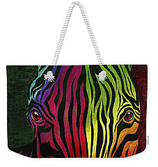 Weekender Tote Bag featuring the painting What Are You Looking At by Peter Piatt