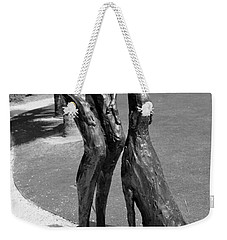 Who Rescued Who - Lorri Acott Weekender Tote Bag by Michiale Schneider