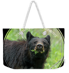 Who Said Vegans Are Not Strong Weekender Tote Bag