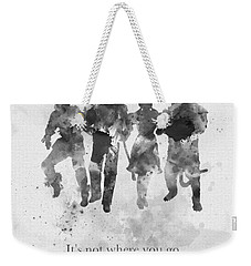 Who You Meet Along The Way Black And White Weekender Tote Bag