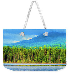 Weekender Tote Bag featuring the photograph Whonnock Lake Mountain Photo Art by Sharon Talson