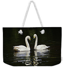 Weekender Tote Bag featuring the photograph Whooper Swans by Sandy Keeton