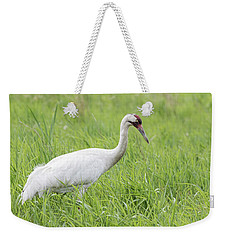Whooping Crane 2017-3 Weekender Tote Bag by Thomas Young
