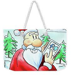 Who's Naughty Or Nice Weekender Tote Bag by Joey Agbayani