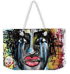 Weekender Tote Bag featuring the digital art Why Love by Sladjana Lazarevic