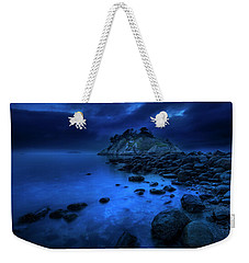 Weekender Tote Bag featuring the photograph Whytecliff Dusk by John Poon