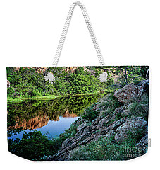 Wichita Mountain River Weekender Tote Bag by Tamyra Ayles