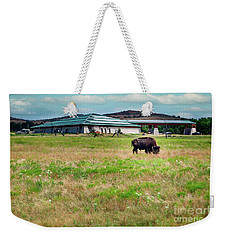 Wichita Mountain Wildlife Reserve Welcome Center II Weekender Tote Bag by Tamyra Ayles