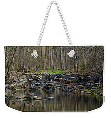 Weekender Tote Bag featuring the photograph  Wickecheoke Creek - New Jersey by Bill Cannon