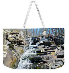 Weekender Tote Bag featuring the photograph  Wickecheoke Creek Waterfall by Bill Cannon