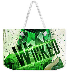 Weekender Tote Bag featuring the digital art Wicked by Mo T