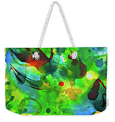 Weekender Tote Bag featuring the painting Widdy Fishy by Michele Myers