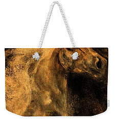Weekender Tote Bag featuring the painting Wild And Free by Barbie Batson