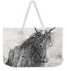 Wild And Free Gray Scale Weekender Tote Bag