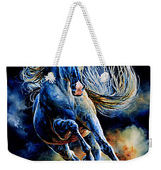 Weekender Tote Bag featuring the painting Wild And Free by Hanne Lore Koehler