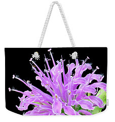 Weekender Tote Bag featuring the photograph Wild Bergamot Also Known As Bee Balm by Jim Hughes