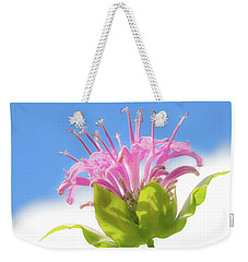 Weekender Tote Bag featuring the photograph Wild Bergamot Or  Bee Balm by Jim Hughes
