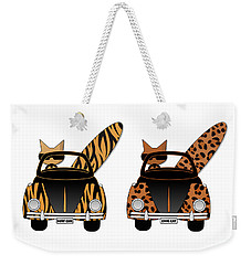 Wild Cats Go Surfing Weekender Tote Bag