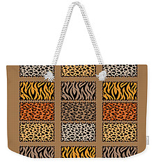 Wild Cats Patchwork Weekender Tote Bag
