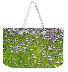 Weekender Tote Bag featuring the photograph Wild Chives by Chevy Fleet