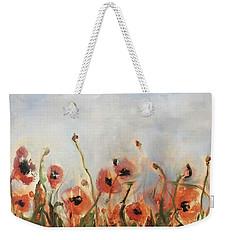 Wild Corn Poppies Underpainting Weekender Tote Bag