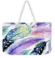Wild Feathers Weekender Tote Bag by Uma Gokhale