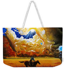 Weekender Tote Bag featuring the painting Wild Fire  by Gene Gregory