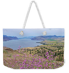 Weekender Tote Bag featuring the photograph Wild Flower Country by Victor K