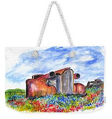 Wild Flower Junk Car Weekender Tote Bag
