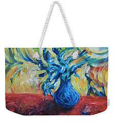 Weekender Tote Bag featuring the painting Wild Flower by Yulia Kazansky