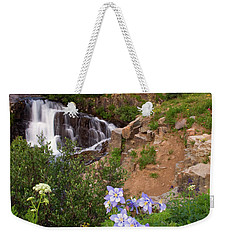 Wild Flowers And Waterfalls Weekender Tote Bag