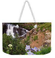 Wild Flowers And Waterfalls Weekender Tote Bag by Steve Stuller