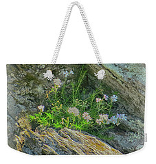 Wild Flowers Between The Rocks Weekender Tote Bag